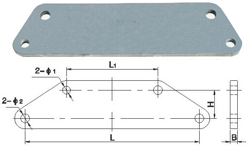 Ladder Shaped Yoke Plate Hot - Dip Galvanized Steel For Electric Power