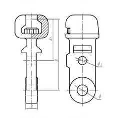 Overhead Transmission Line Hardware Fittings High Tensile Strength Featuring