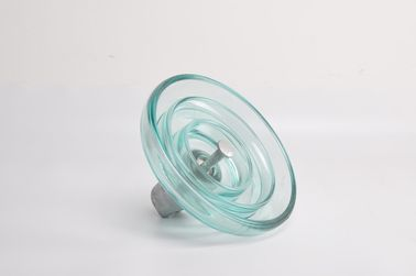China Anti Fog High Voltage Glass Insulators 120kN Tensile Strength For Electric Power supplier