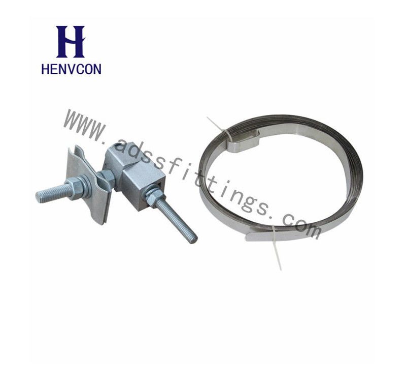 Elector - Insulating Rubber Type Down Lead Clamp For Fixation Of OPGW And ADSS Onto  Pole / Tower
