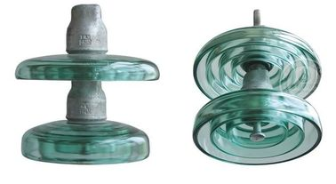 Disc Fiberglass Electric Pole Insulators , Glass Wire Insulators With Cap / Pin