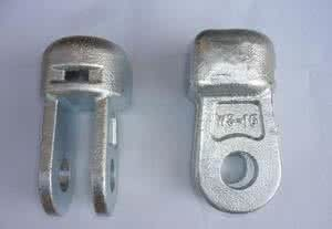 Hot Dip Galvanized Socket Clevis Clean Rust Free For 11KV Disc Porcelain Insulator